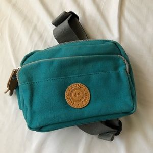 Handbags - Teal canvas fanny pack
